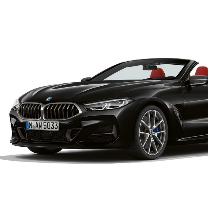 BMW M850i xDrive, Carbon Black metallic, 3/4 изглед отпред.