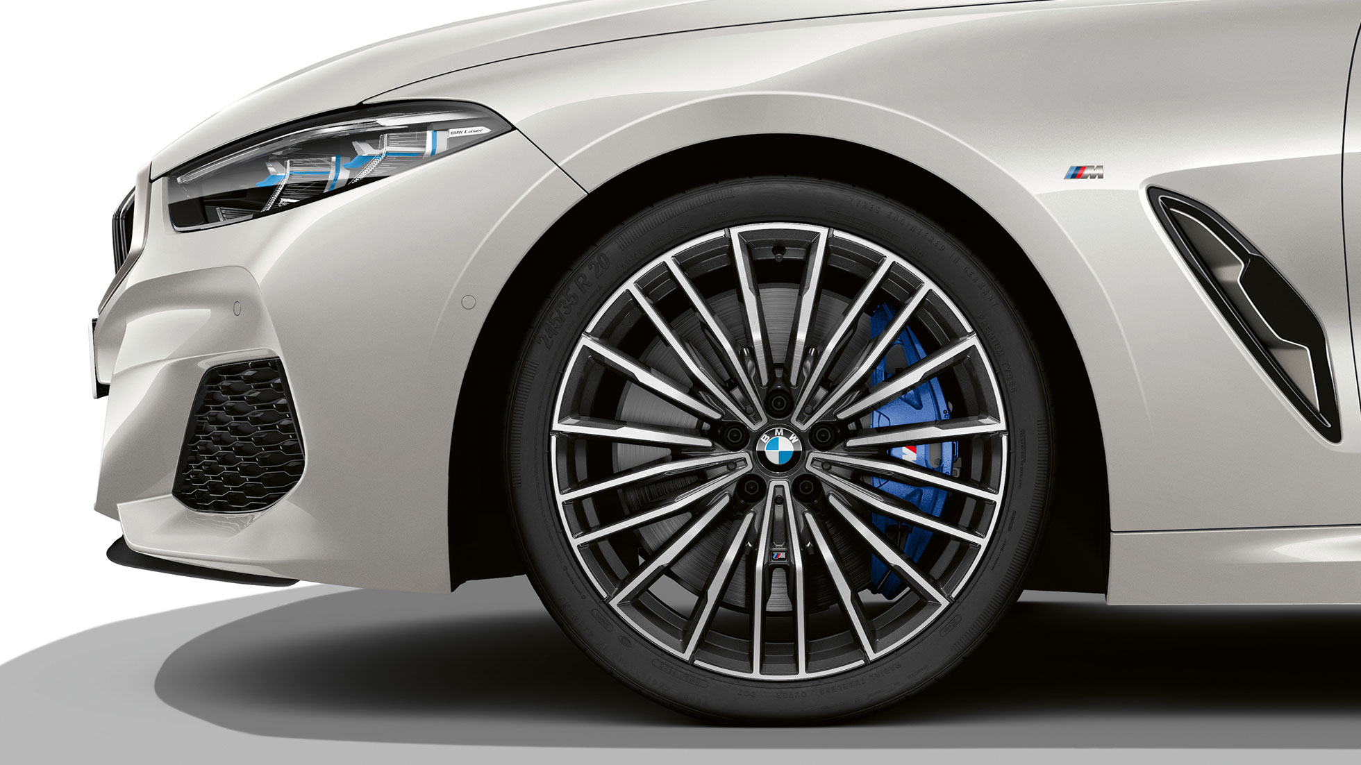BMW M850i xDrive, Mineral White metallic, 20-инчови алуминиеви джанти multi-spoke 729 M.